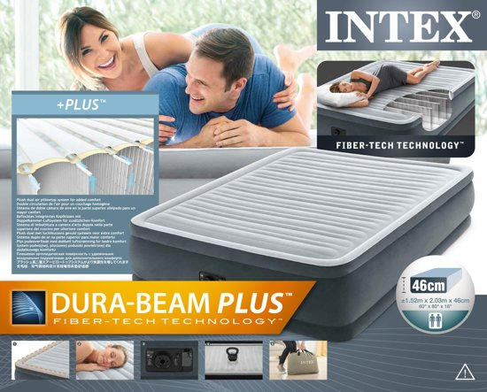Intex Comfort Plush Horizontal Beam Luchtbed Queen