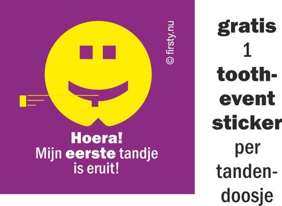 Firsty Round Tandendoosje (meisje, roze) Gratis Logboekje en Tandenfeeverhaal NL - Gratis verzending elke DI en VR (besteld vóór 13.30)