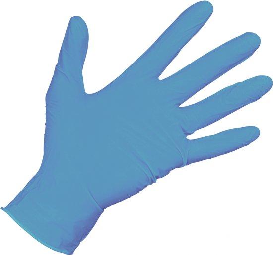 Carpoint Nitril handschoenen gepoederd maat L 100st.