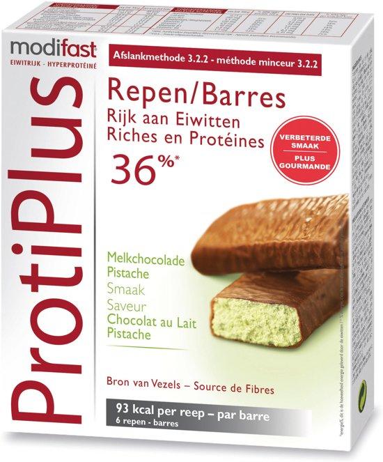 Modifast Protiplus Reep Melkchocolade Pistache - 6 stuks