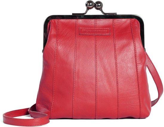 e68796e91fd bol.com | Sticks and Stones - Perugia Bag - Buff Washed - Cherry Red
