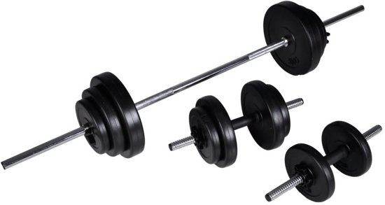 vidaXL - Halterset / Dumbbell set - Totaal 30,5 kg