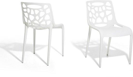 Kunstof stoel wit tuinstoel morgan for Witte kunstof eetkamerstoelen