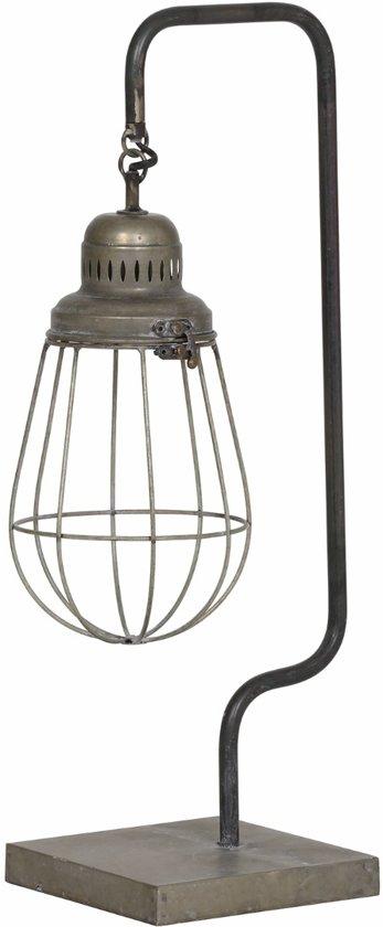 Light & Living Tafellamp Hidde metaal antiek zilver 59,5 x 24,5 x 18