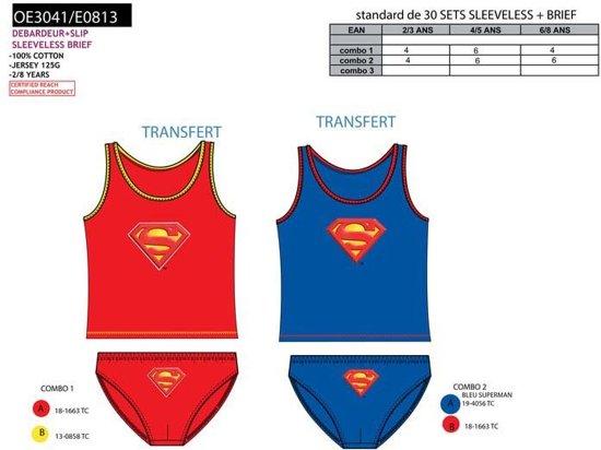 Superman - ondergoedset - blauw 4/5 jaar