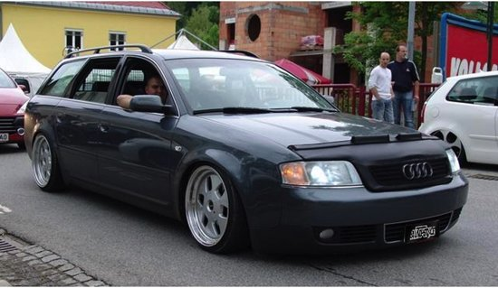 AutoStyle Motorkapsteenslaghoes Audi A6 B4 1998-2004 zwart