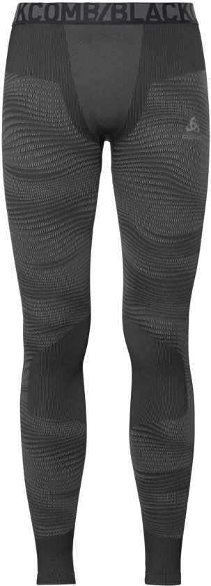 Odlo Suw Bottom Pant Performance Blackcomb Thermobroek Heren - Black-Concrete Grey