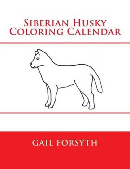 Siberian Husky Coloring Calendar