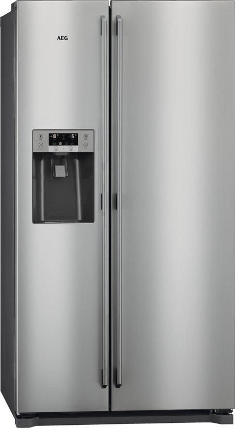 AEG RMB76121NX - Amerikaanse koelkast - RVS