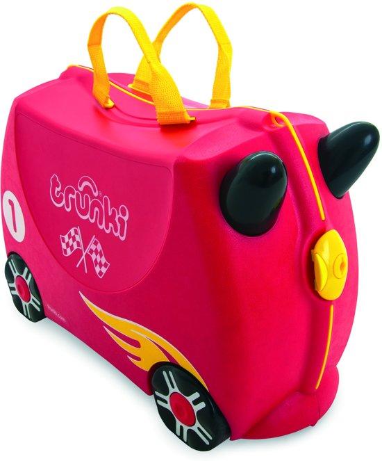 Trunki Ride-On Rocco de Racewagen Kinderkoffer - 46 cm - Rood