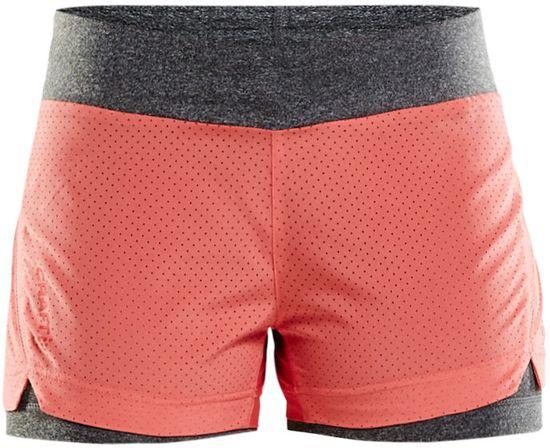 Craft - Breakaway 2-in-1 Shorts W - hardloopshorts dames - Dahlia - S