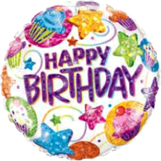 Incredible Bol Com Folieballon Happy Birthday Cupcakes Funny Birthday Cards Online Inifofree Goldxyz