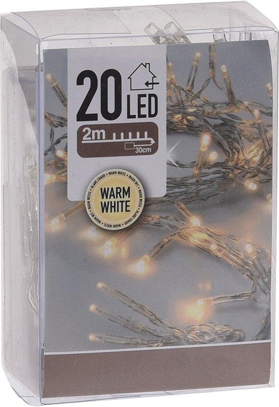 Excellent Houseware Ledlampjes voor binnen - 20 lampjes - warm wit