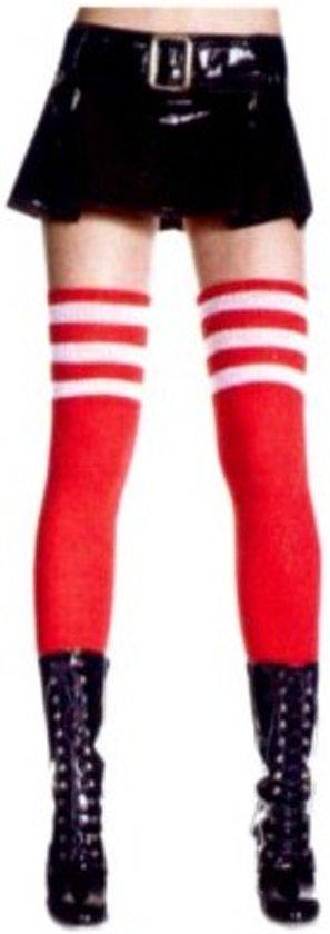 Lieskousen rood 3 witte strepen