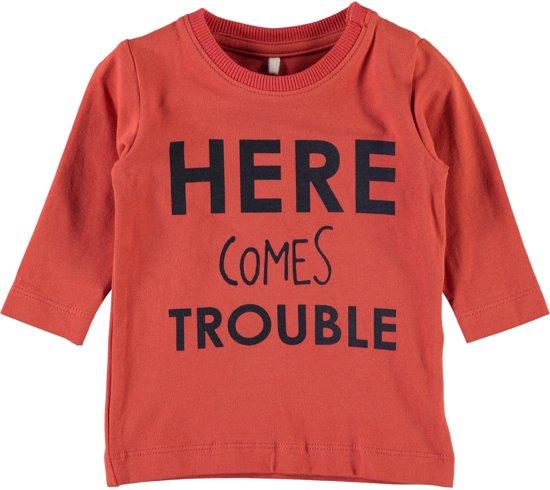 Name it Jongens T-shirt - Paprika - maat 56