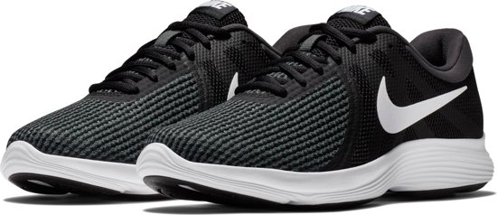 Nike Revolution 4 EU Sneakers Dames - Black/White-Anthracite - Maat 36.5