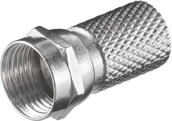 S-Impuls Schroef F-connector voor 7,2mm kabel / recht