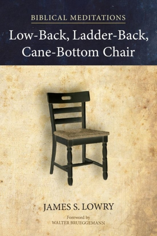 Low Back Ladder Cane Bottom Chair