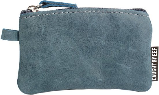 Blauwe Leren Portemonnee.Bol Com Blauw Leren Mini Portemonnee Grace S Cards Coins