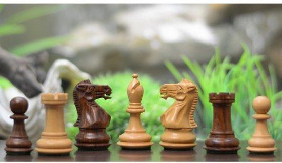 Afbeelding van het spel Staunton Collector schaakstukken, Ebbenhout en Palmboomhout, Koningshoogte 68 mm