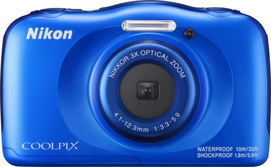 Nikon Coolpix W100 Blauw - Camera met rugzak