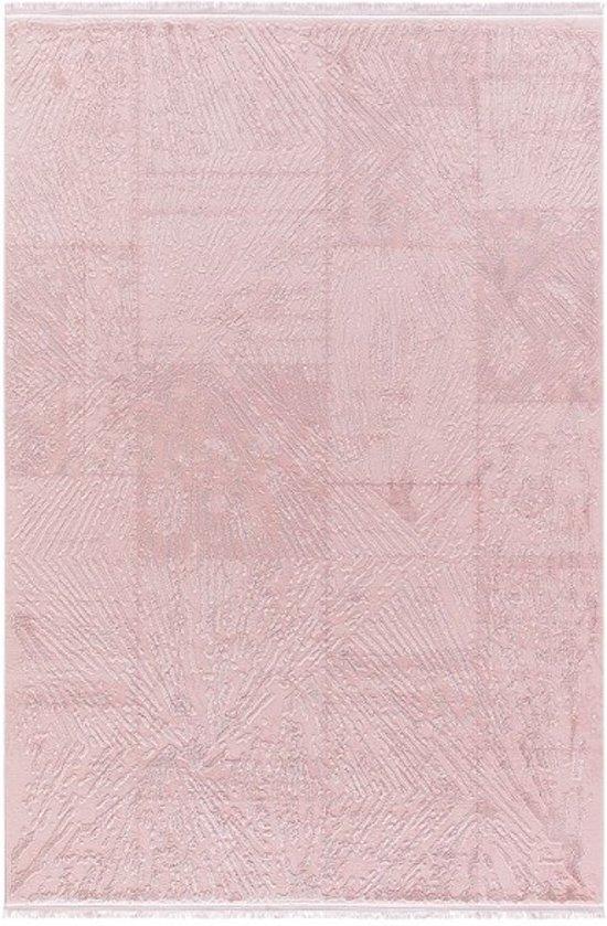 Vloerkleed patchwork Pudra 80x150cm roze