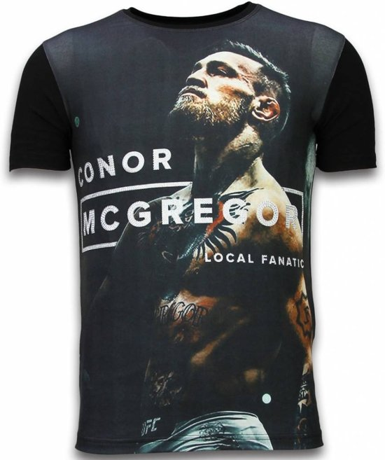 dc85473162c986 Local Fanatic McGregor Cocks - Digital Rhinestone T-shirt - Zwart - Maten  M