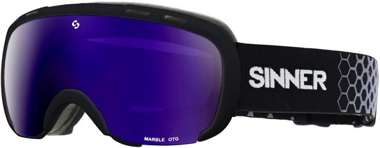 Sinner Marble OTG Unisex Skibril - Zwart