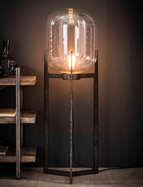bol | depauwwonen industriele vloerlamp glas support