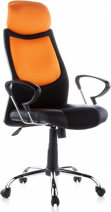 Directie Bureau Stoel.Bol Com Hjh Office City 80 Bureaustoel Directie Zwart Oranje