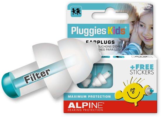groothandel outlet de nieuwste San Francisco Alpine Pluggies Kids - Gehoorbescherming voor kinderen - Oordoppen - Wit -  SNR 25 dB - 1 paar