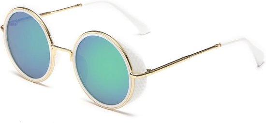 44eb2cd7c3f0e1 Retro ronde zonnebril wit