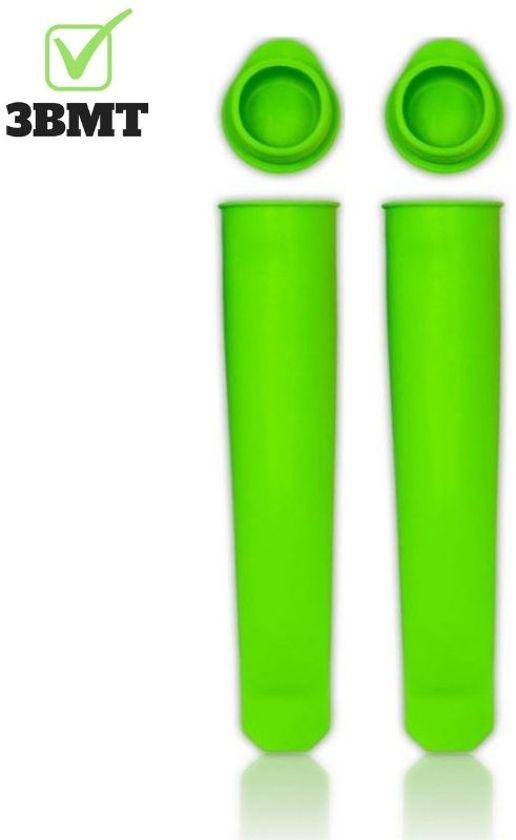 Siliconen ijsvorm Calippo - hygiënisch zelf ijs maken - set van 2  - groen