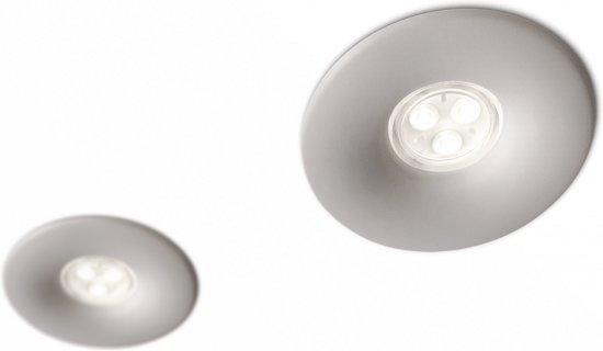 Philips Pebble Inbouwspot 2-set LED grijs 168618716- Powerled- grondspot- Outdoor