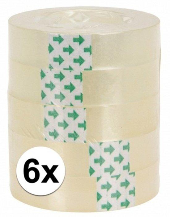 6 rolletjes plakband