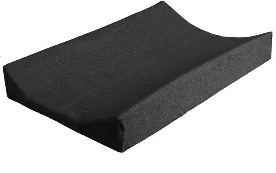 Jollein - Aankleedkussenhoes badstof 50 x 70 cm - Antraciet