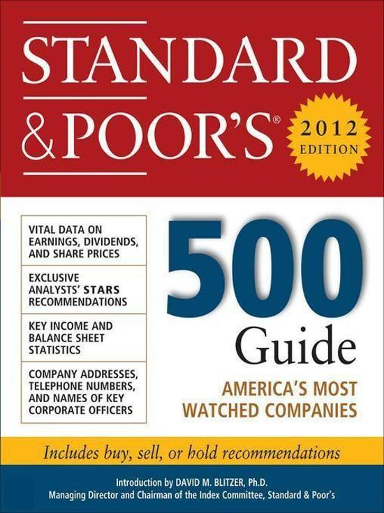 Standard and Poors 500 Guide 2012 Edition