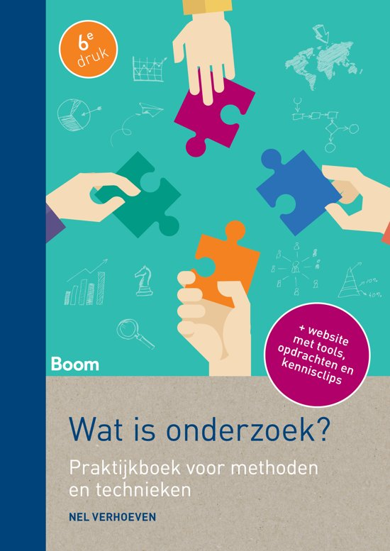 Boek cover Wat is onderzoek? van Nel Verhoeven (Paperback)