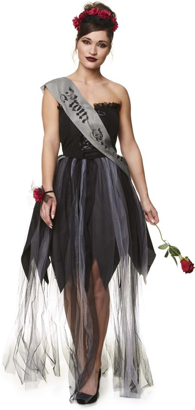 Gothic kleding vrouwen – Gotische jurk – Halloween Kostuums – Zwart – Maat XS