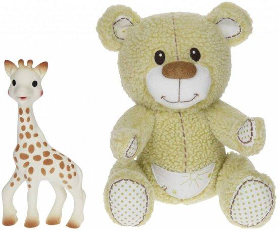 Sophie de Giraf - Gabin de Beer zachte knuffel + Sophie de Giraf bijtspeeltje