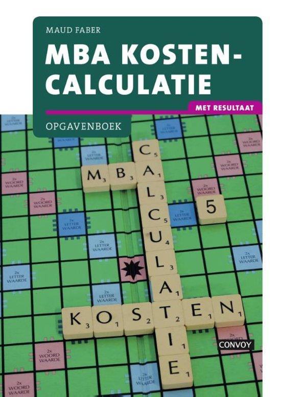 Mba Kostencalculatie Met Resultaat Opgavenboek Pdf Download Maud