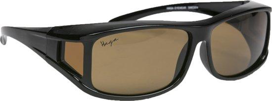 Overzet zonnebril bruin polariserend Haga Eyewear - overzetbril - overzetzonnebril