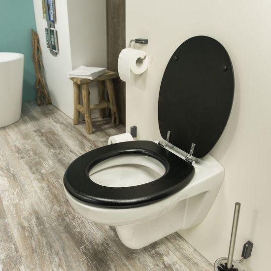 Tiger Toiletbril Leatherlook MDF zwart 252540746