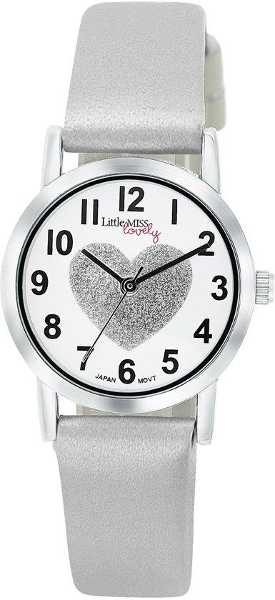 Little Miss Lovely ML13536 112 Horloge Leer Zilver Ø 25 mm