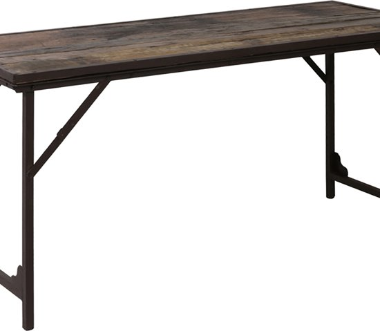 Sidetable Bruin Hout.Light Living Sidetable Lawn Table 150x60x75 Cm Hout Bruin