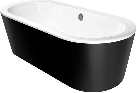 Half Vrijstaand Bad Zwart.Bol Com Kerra Zeus Vrijstaand Bad 180x80cm Zwart Wit