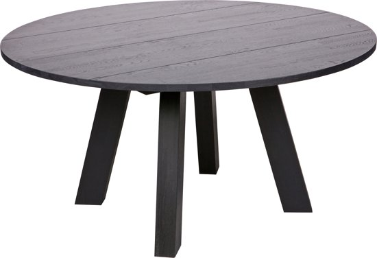 WOOOD Rhonda xl Eetkamertafel - Eiken Blacknight - 75xø150