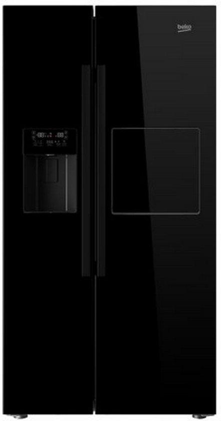 Beko GN162430P - Amerikaanse koelkast - Zwart
