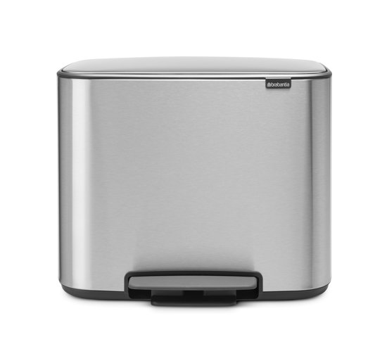 Brabantia Bo Prullenbak - 3 x 11 l - Matt Steel Fingerprint Proof