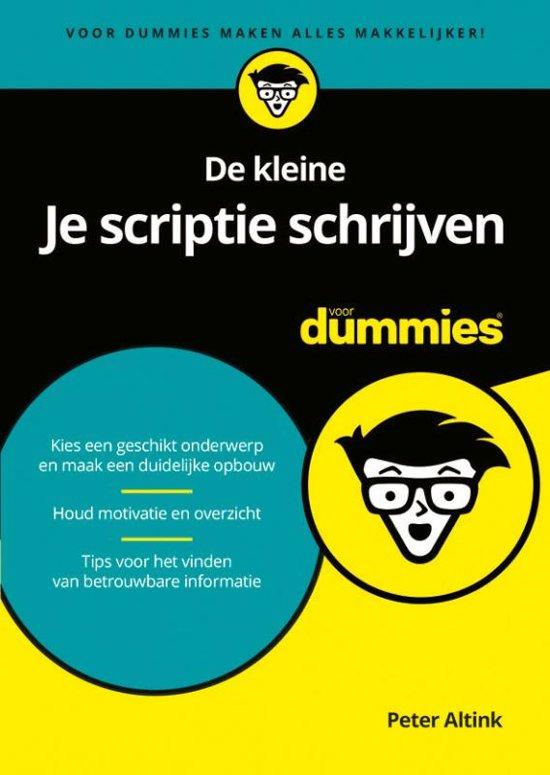 Afbeelding van De kleine Je scriptie schrijven voor Dummies